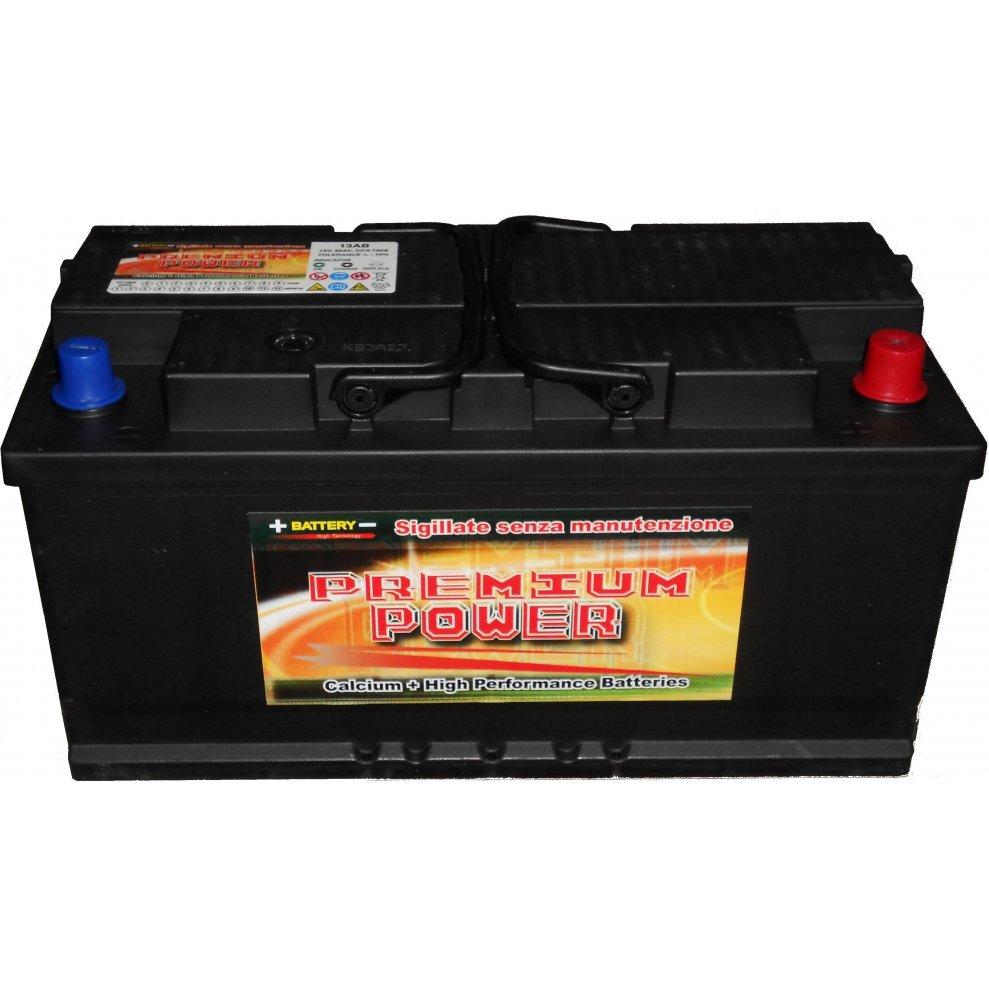 Batteria auto PREMIUM POWER 85 Ah spunto 780A polo positivo destra LB4 310x175x175