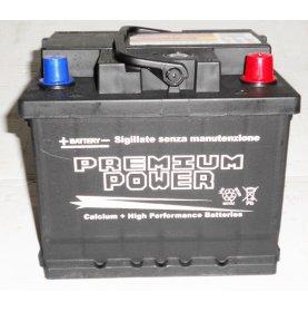 Batteria auto PREMIUM POWER 50 Ah spunto 470A polo positivo destra LB1 207x175x175