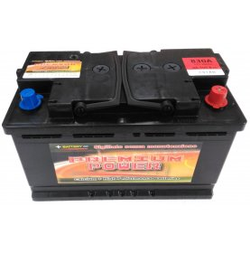 Batteria auto PREMIUM POWER 100 Ah spunto 830A polo positivo destra LB4 310x175x175