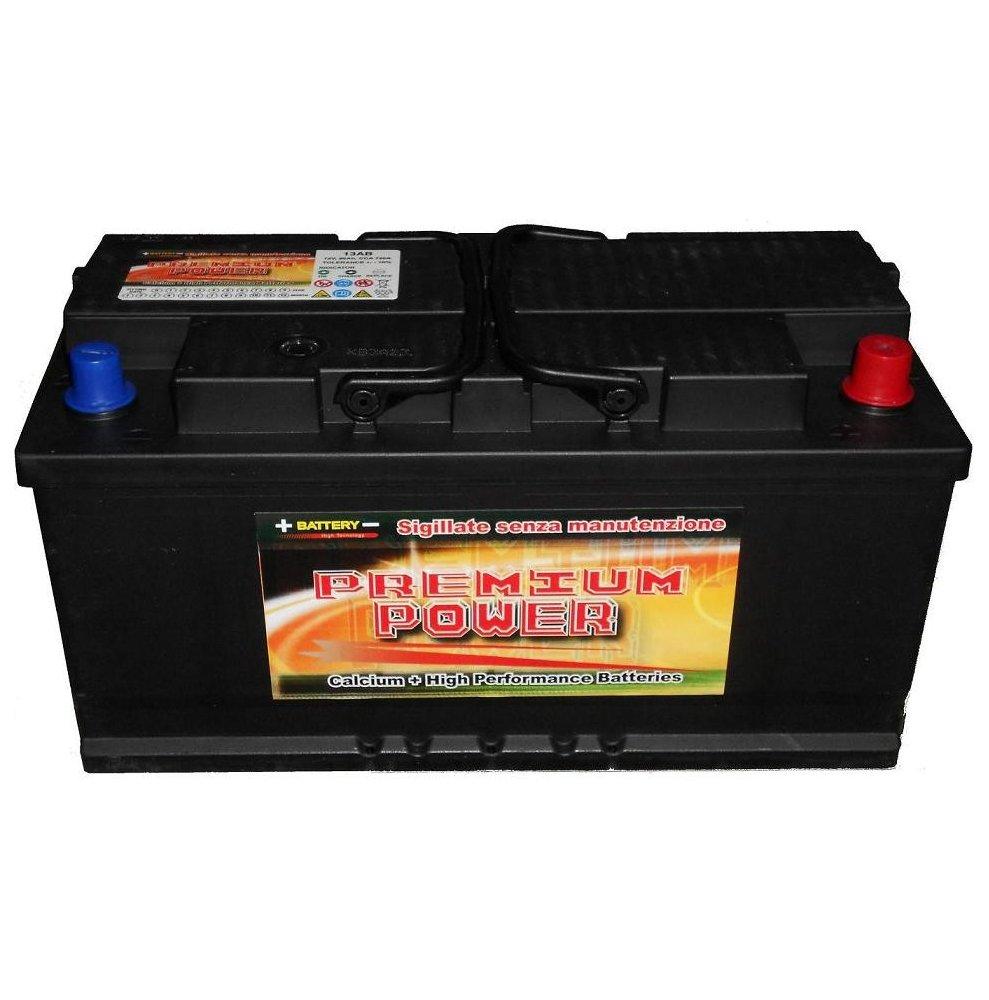 Batteria auto PREMIUM POWER 95 Ah spunto 830A polo positivo destra LB5 354x175x175