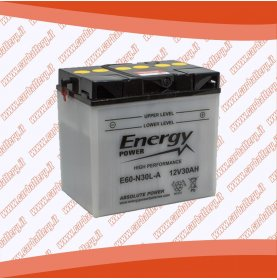 Batteria moto Y60-N30L-A ENERGY POWER 30 Ah polo positivo destra 187x130x170
