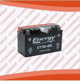 Batteria moto YT7B-BS ENERGY POWER 6 Ah sigillata con acido polo positivo sinistra 150x65x92