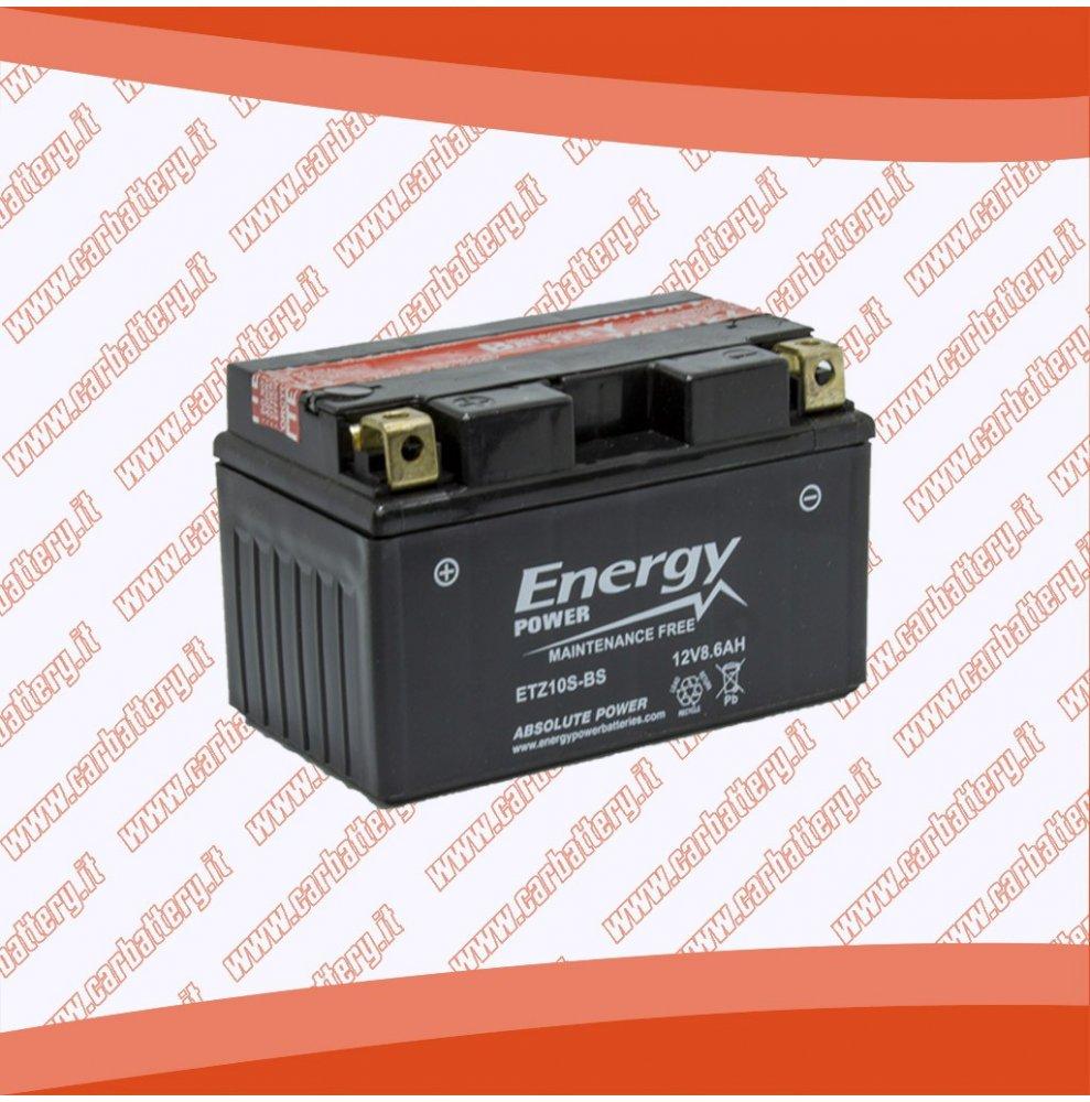 Batteria moto YTZ10S-BS ENERGY POWER 8.6 Ah sigillata con acido polo positivo sinistra 150x87x95