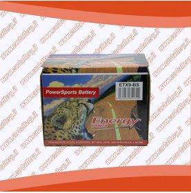 Batteria moto YTX9-BS ENERGY POWER 8 Ah sigillata con acido polo positivo sinistra 151x87x106