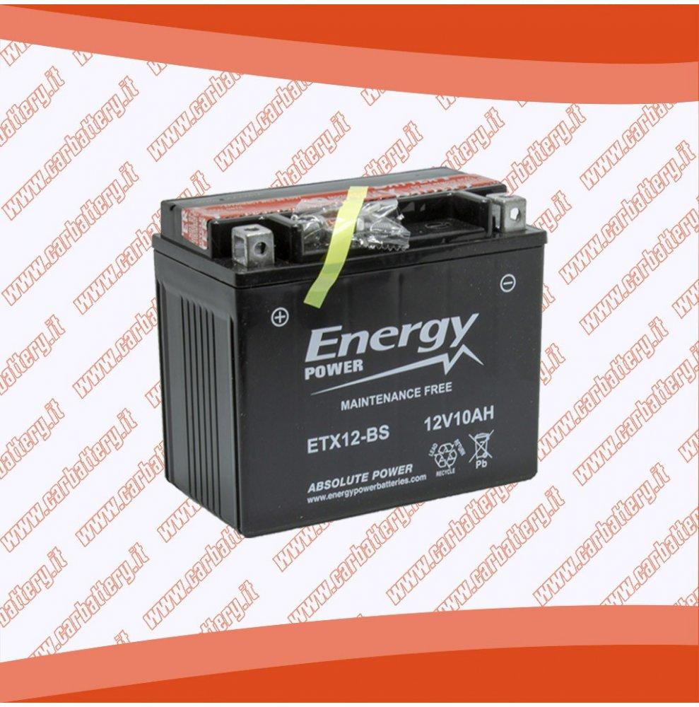Batteria moto YTX12-BS ENERGY POWER 10 Ah sigillata con acido polo positivo sinistra 150x87x130